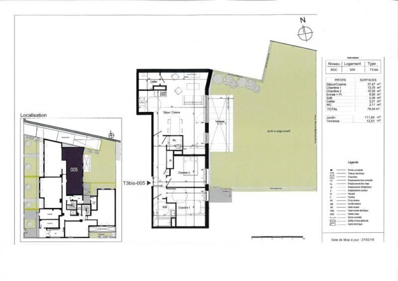 Venta  apartamento Rennes 363000€ - Fotografía 3