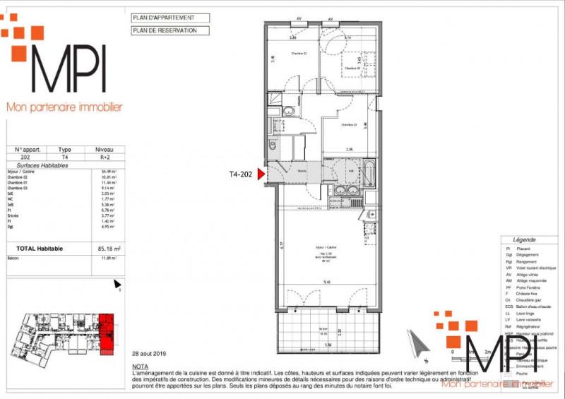 Produit d'investissement appartement Mordelles 287152€ - Photo 3