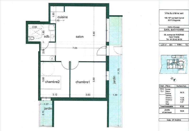 Vente appartement Bagnolet 324000€ - Photo 1