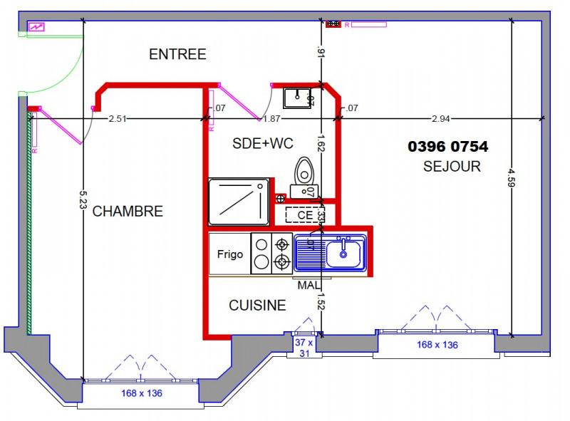 Rental apartment Boulogne-billancourt 882,87€ CC - Picture 6