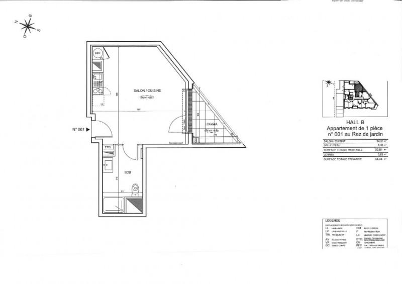 Sale apartment Nantes 139000€ - Picture 3