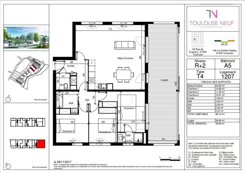 Vente appartement Toulouse 282500€ - Photo 4
