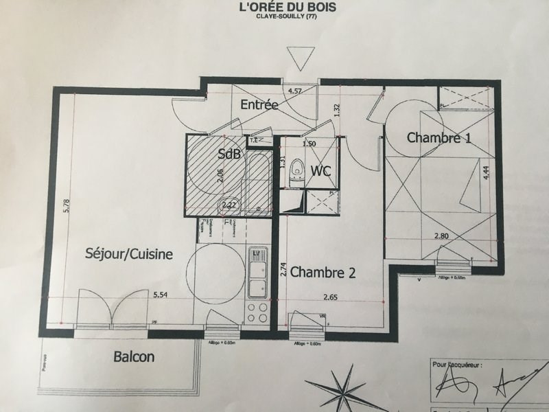 Sale apartment Claye souilly 239 000€ - Picture 9