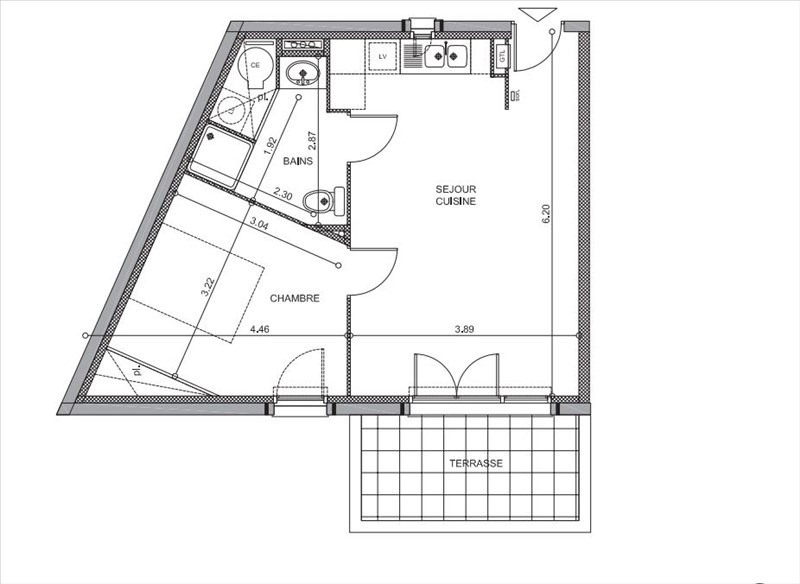 Sale apartment Lunel 129000€ - Picture 2