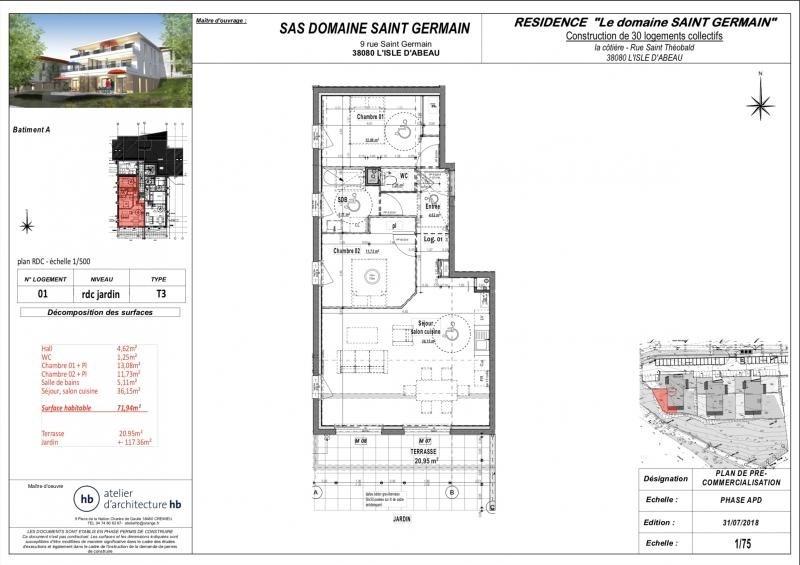 Vente appartement L'isle d'abeau 217280€ - Photo 2