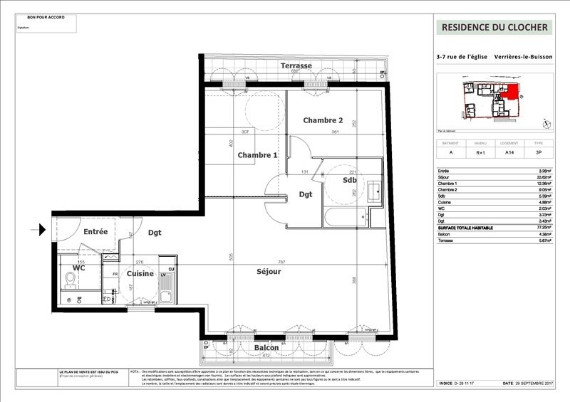 Vente appartement Verrieres le buisson 462000€ - Photo 2