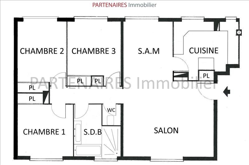 Sale apartment Le chesnay 290 000€ - Picture 8