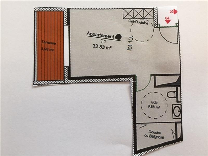 Vendita appartamento Charbonnieres les bains 182682€ - Fotografia 3