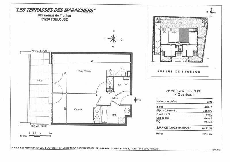 Rental apartment Toulouse 547€ CC - Picture 10