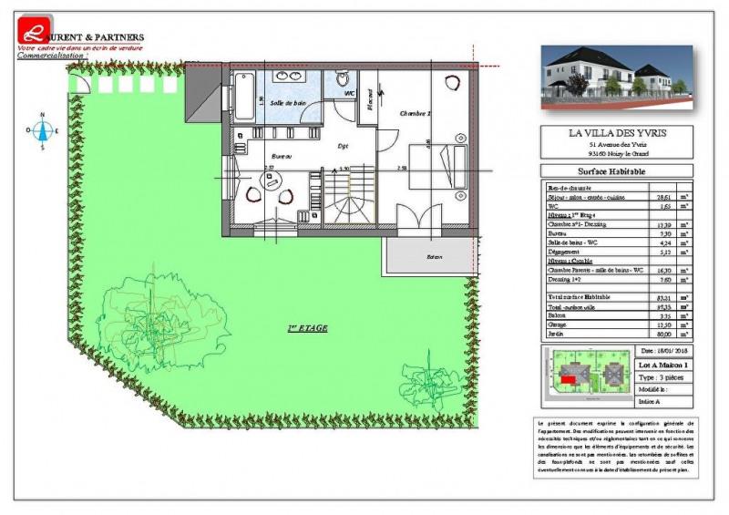 Vente maison / villa Noisy le grand 350000€ - Photo 10