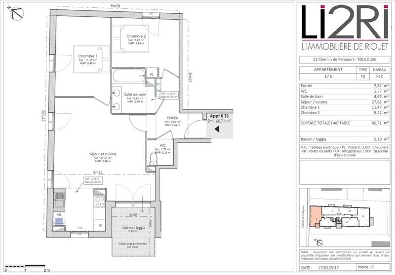 Vente appartement Toulouse 249500€ - Photo 4