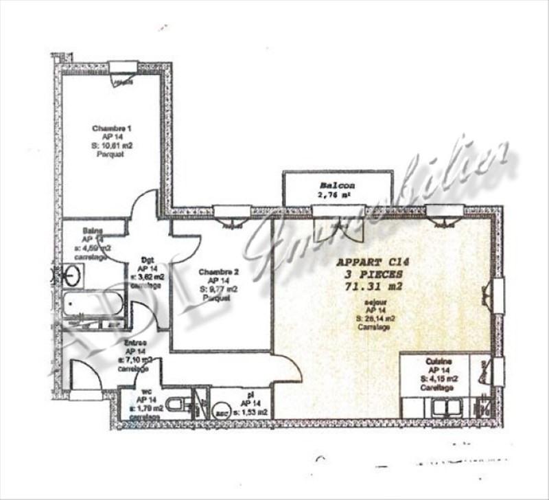 Sale apartment Orry la ville 234000€ - Picture 6