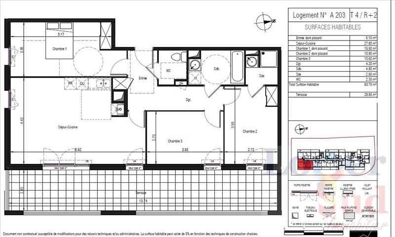 Deluxe sale apartment Lattes 396 500€ - Picture 2