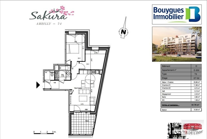 Sale apartment Ambilly 284000€ - Picture 3