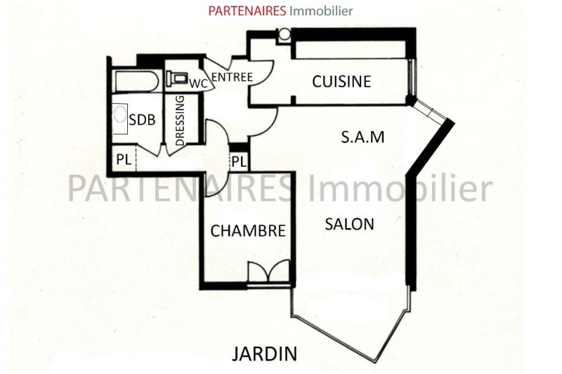 Sale apartment Le chesnay 293 000€ - Picture 7