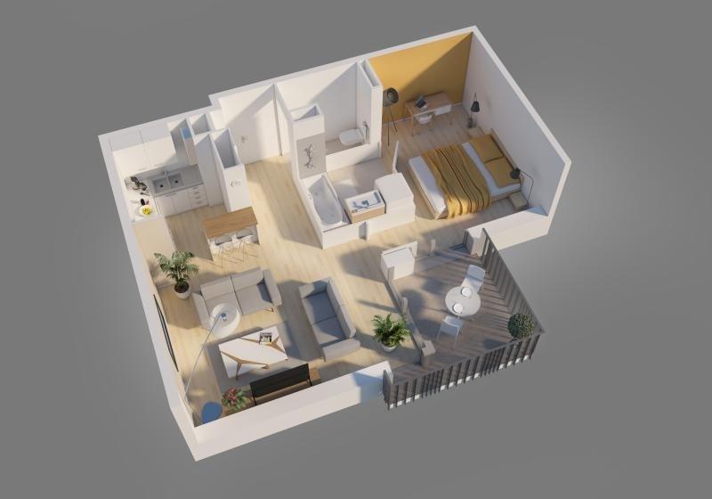 Vente appartement Bron 121500€ - Photo 5
