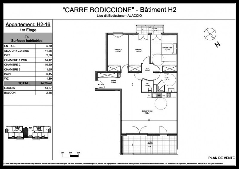 Sale apartment Ajaccio 276 000€ - Picture 2