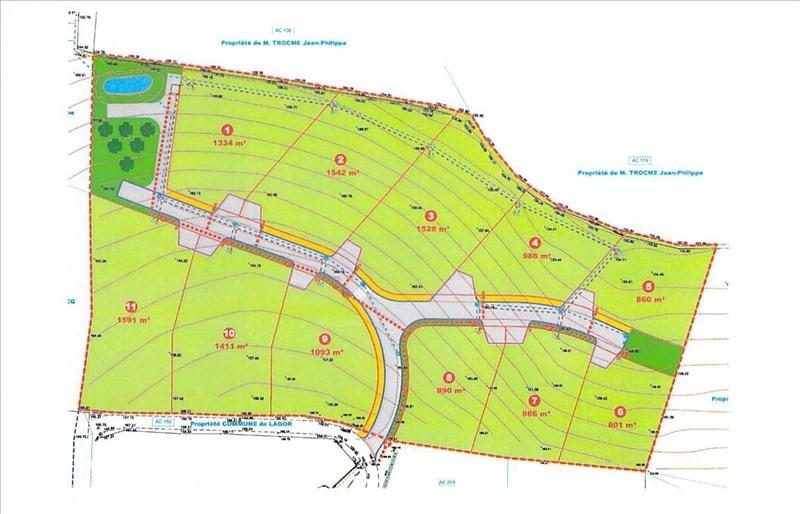 Vente terrain Lagor 213000€ - Photo 2