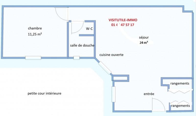 Vente appartement Paris 15ème 438000€ - Photo 2