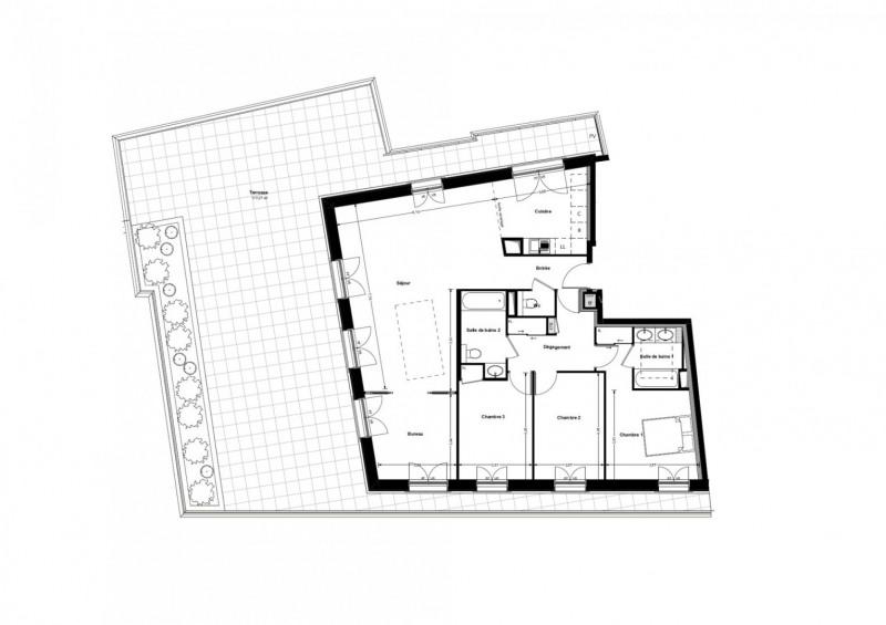 Deluxe sale apartment Puteaux 1450000€ - Picture 1
