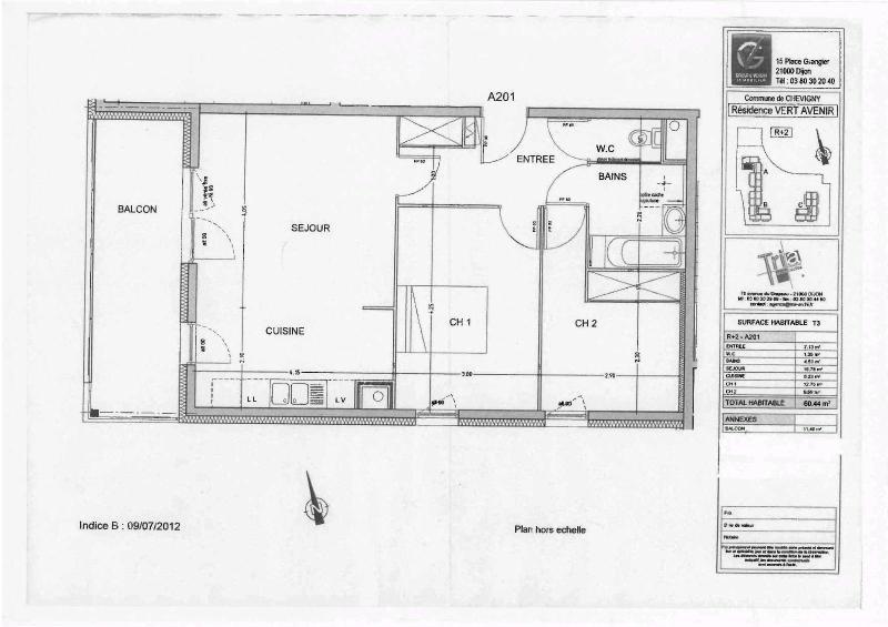 Location appartement Chevigny st sauveur 738€ CC - Photo 6