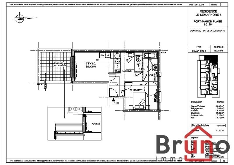 Verkoop  appartement Fort mahon plage 176000€ - Foto 1