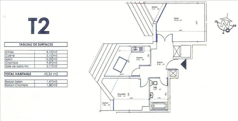 Sale apartment Pau 95000€ - Picture 3