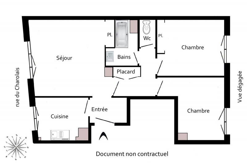 Location appartement Paris 12ème 1 281€ CC - Photo 3
