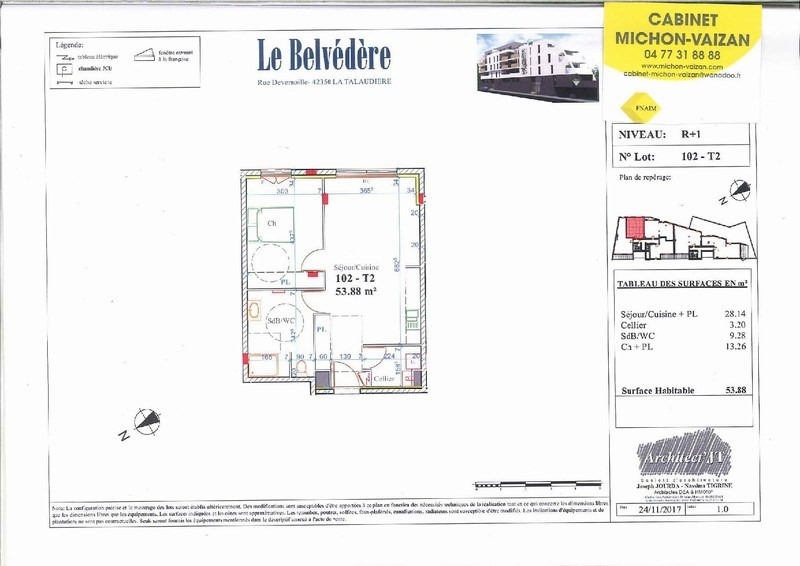 Sale apartment La talaudiere 138 000€ - Picture 2
