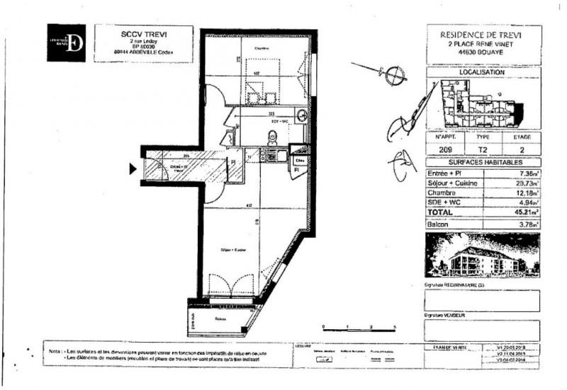 Alquiler  apartamento Bouaye 516€ CC - Fotografía 5