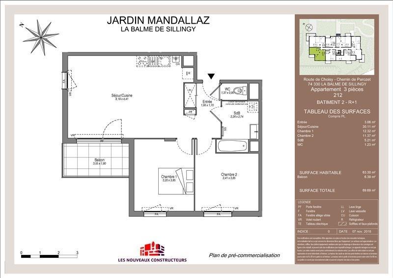 Vente appartement Balme de sillingy 265000€ - Photo 1