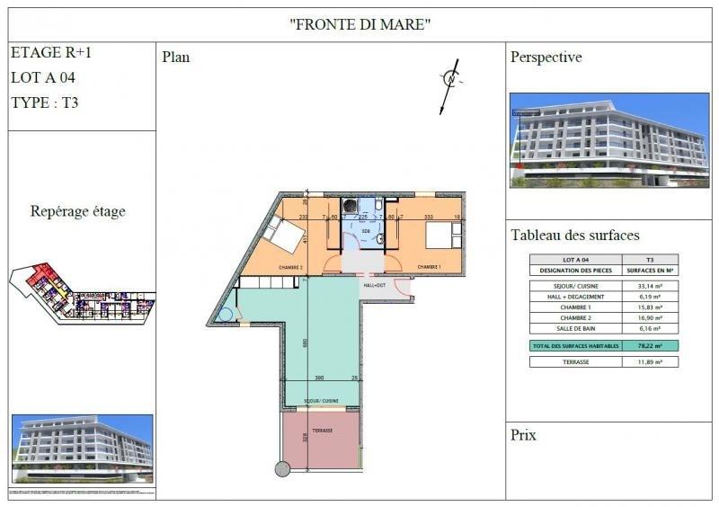 Sale apartment Propriano 280000€ - Picture 3