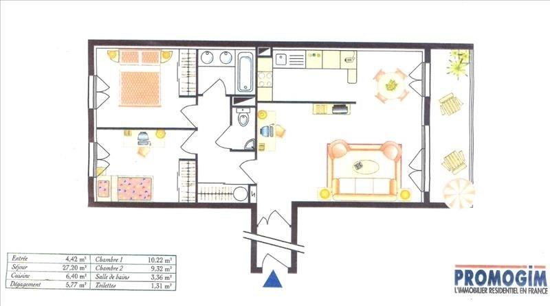 Sale apartment Les pavillons sous bois 200000€ - Picture 2
