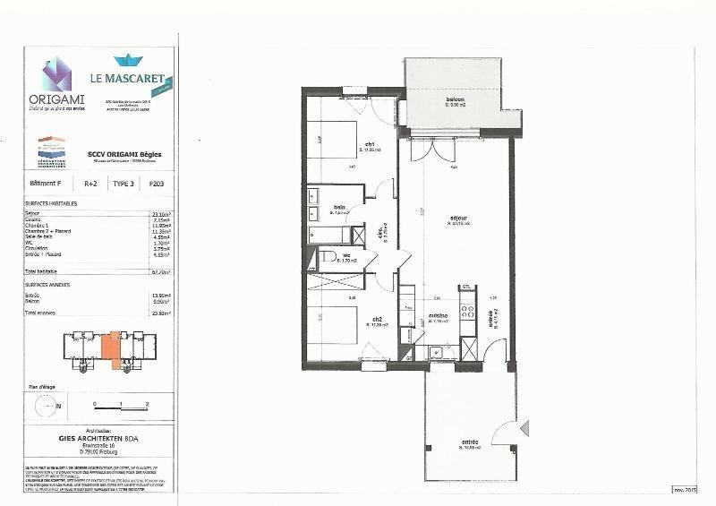Location appartement Begles 780€ CC - Photo 8