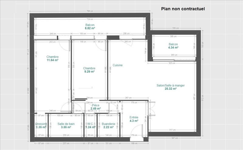 Vente appartement Grenoble 195000€ - Photo 6