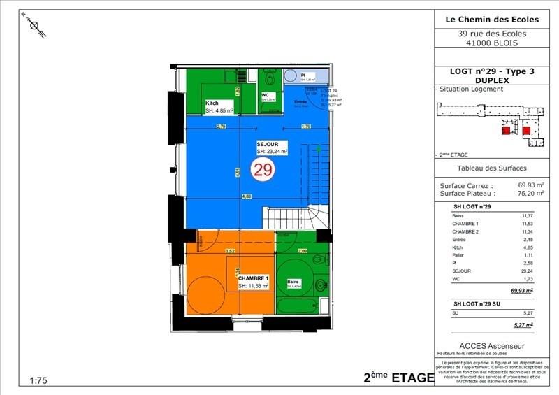 Vente appartement Blois 166500€ - Photo 4