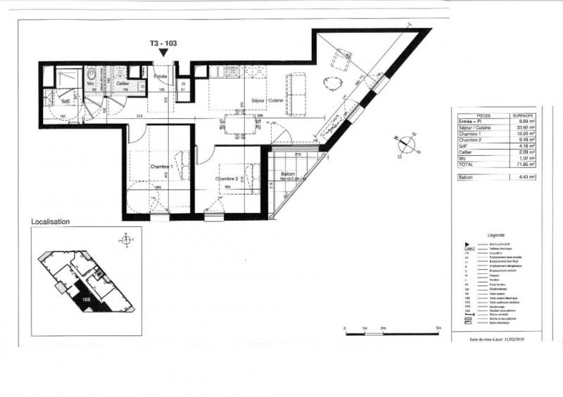 Vente appartement Tours 256000€ - Photo 5