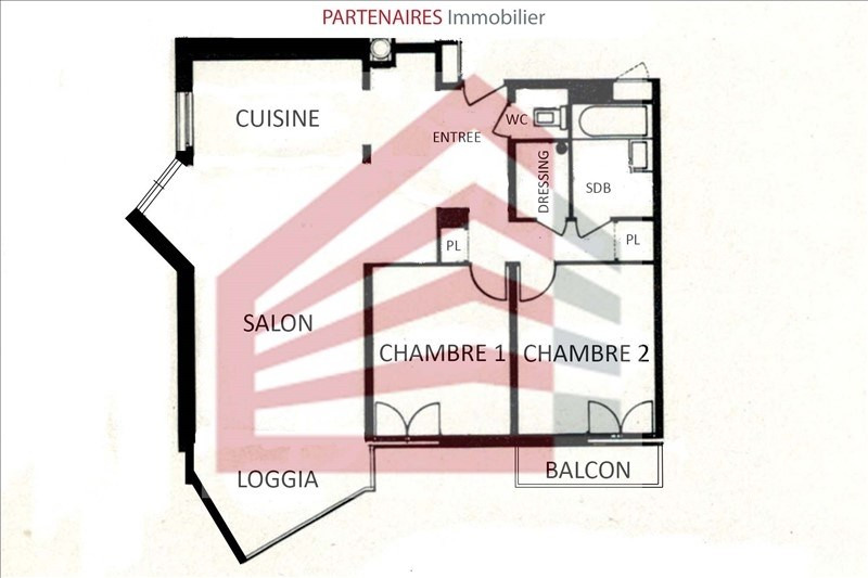 Rental apartment Le chesnay 1533€ CC - Picture 8