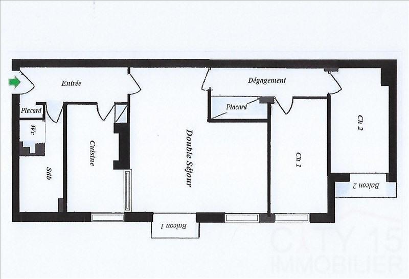 Venta  apartamento Paris 15ème 665000€ - Fotografía 9