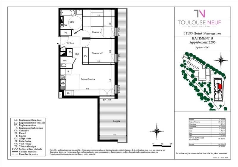 Vente appartement Quint-fonsegrives 209000€ - Photo 4