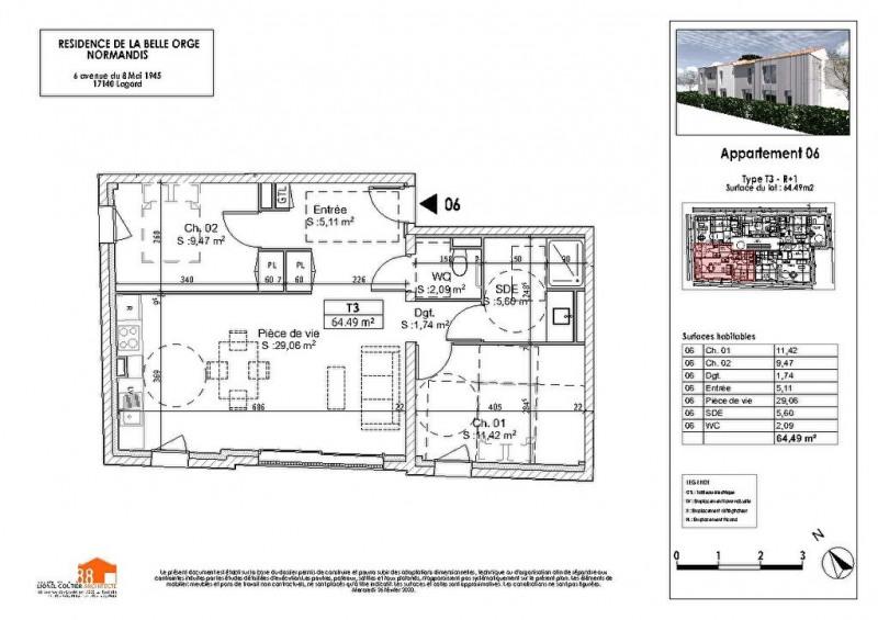 Appartement Chagnolet 2 pièce (s) 64.49m²