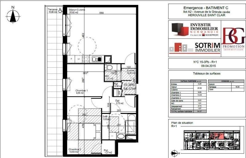 Affitto appartamento Herouville st clair 641€ CC - Fotografia 1