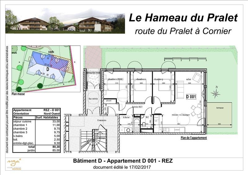 Sale apartment Cornier 266 000€ - Picture 2