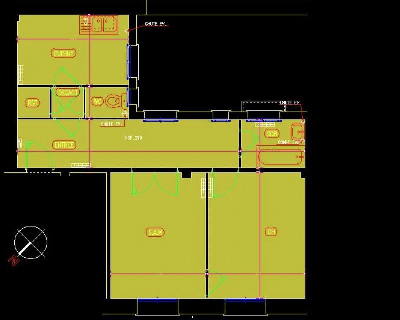 Appartement 2 pièces en parfait état situé en rdc sur cour