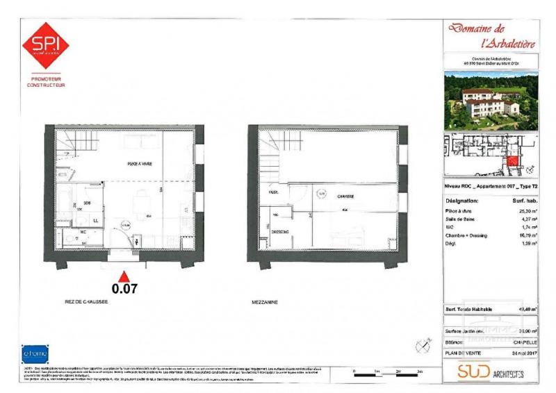 Investment property apartment Saint didier au mont d'or 265000€ - Picture 4