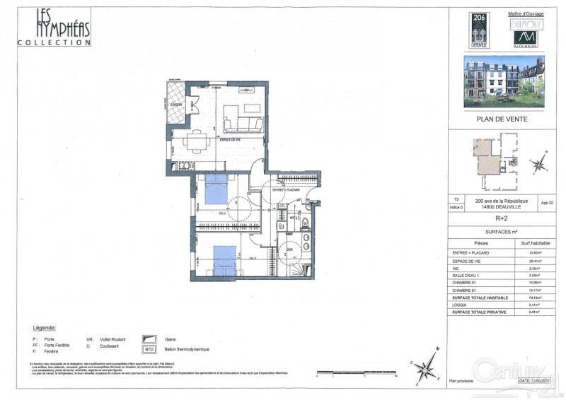 Venta  apartamento Deauville 481975€ - Fotografía 1