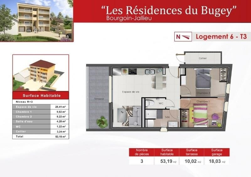 Sale apartment Bourgoin jallieu 176570€ - Picture 2