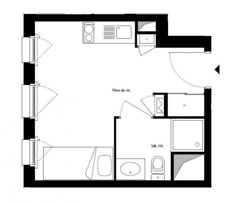Investment property apartment Décines-charpieu 93000€ - Picture 3