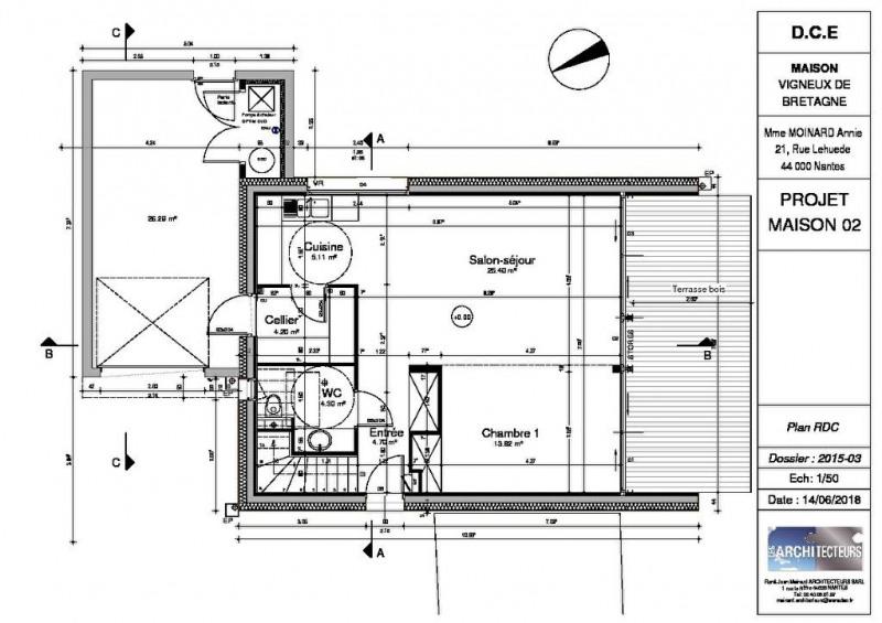 Vente maison / villa Vigneux de bretagne 369900€ - Photo 3