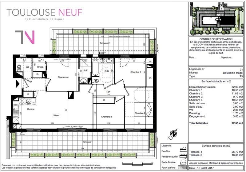 Vente de prestige appartement Toulouse 598500€ - Photo 9